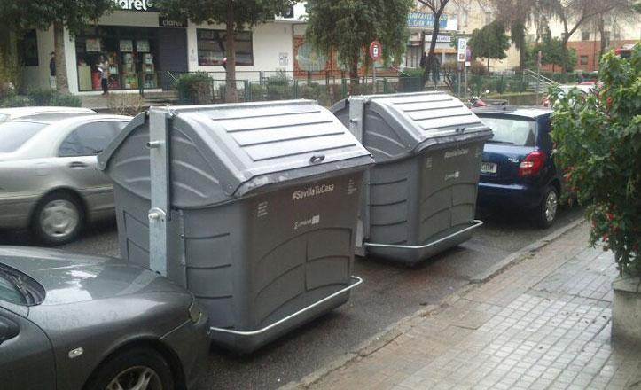 Nuevos contenedores de basura en el Cerro Amate