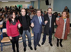Zoido con Alfonso Sánchez y Alberto López