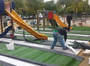 Tres parques infantiles más seguros en San Pablo-Santa Justa