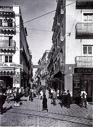 Calle Sierpes en la antigüedad