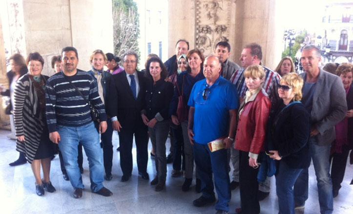 El Alcalde recibe a 20 profesores europeos del Proyecto Grundtvig
