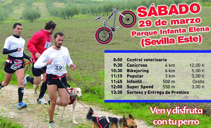 Cartel de la I Copa Canicross Bikejoring en Sevilla