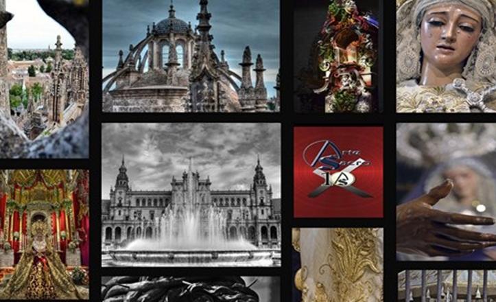 Algunas de las imágenes que se pueden contemplar en la exposición «Los signos de Sevilla»