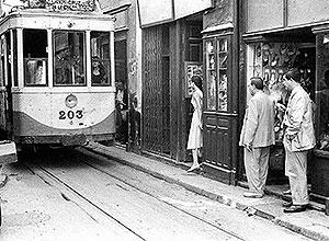 El tranvía por la calle Imagen