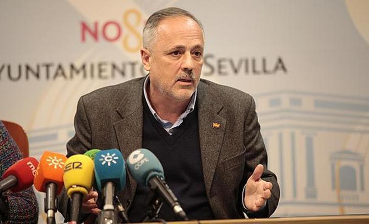 El portavoz de IU en Sevilla, José Manuel García, en una foto de archivo