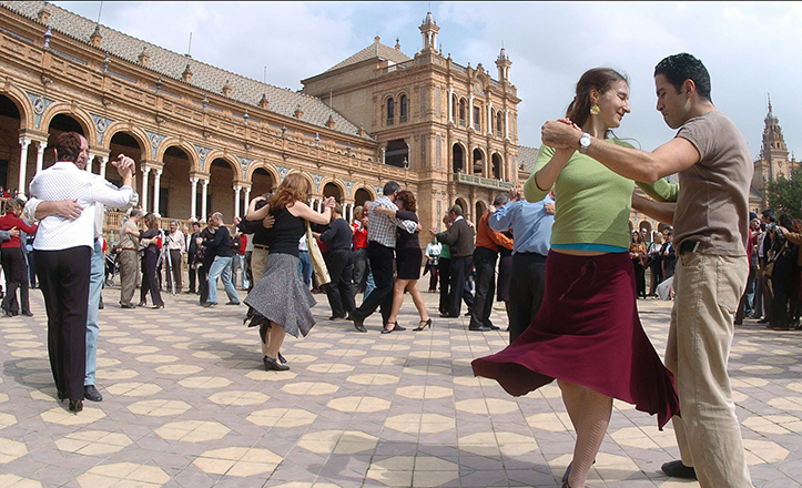 Imagen de la VI Cumbre Mundial de Tango, celebrada en Sevilla en 2005