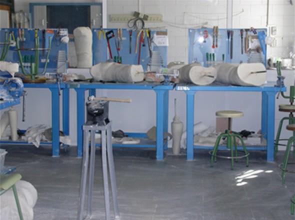 Aula de Ortoprotésica, especialidad del IES Punta del Verde
