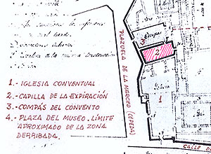 Detalle del Plano de la Capilla