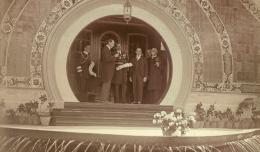 Arco de acceso a la terraza del Pabellón de Brasil, en plena Exposición Iberoamericana de Sevilla