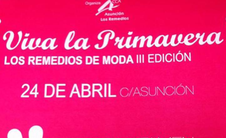 Cartel del certamen de moda «¡Viva la primavera!».
