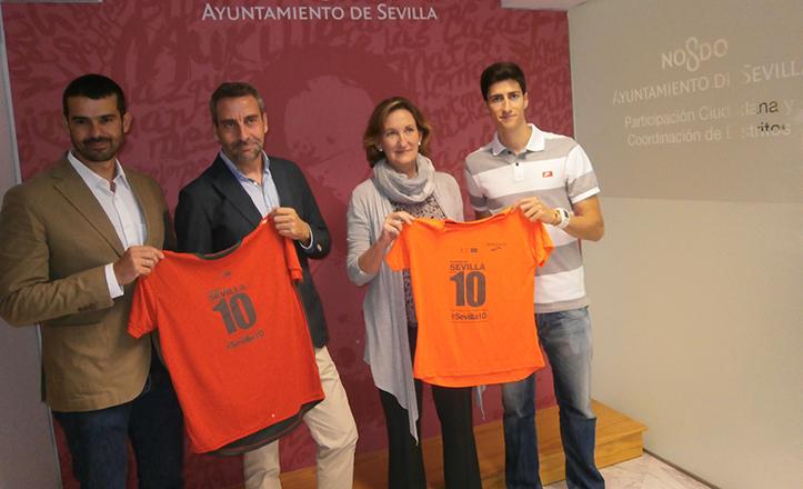 Presentación de #Sevilla10, con Enrique Sánchez, Fidel Cardete, María del Mar Sánchez Estrella y Luis Alberto Marco.