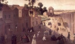 El humilladero de la Cruz del Campo, destino de procesiones de disciplinantes