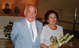 Antonio Hinojosa y Dolores Ferrer, padres de nueve hijos.