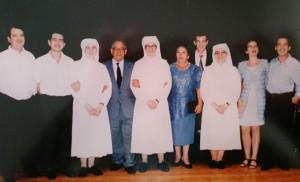 Parte de la familia Hinojosa Ferrer, donde las tres religiosas son un gran orgullo