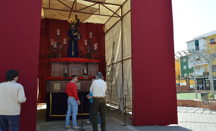 Todo listo para la salida procesional de Nuestro Padre Jesús Nazareno de las Lágrimas