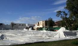 IU exige el arreglo de la cubierta de la piscina del Tiro de Línea