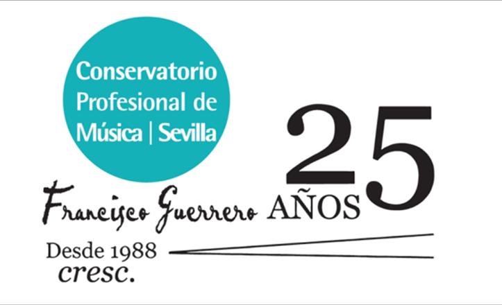Logo del Conservatorio Francisco Guerrero para la celebración de sus 25 años