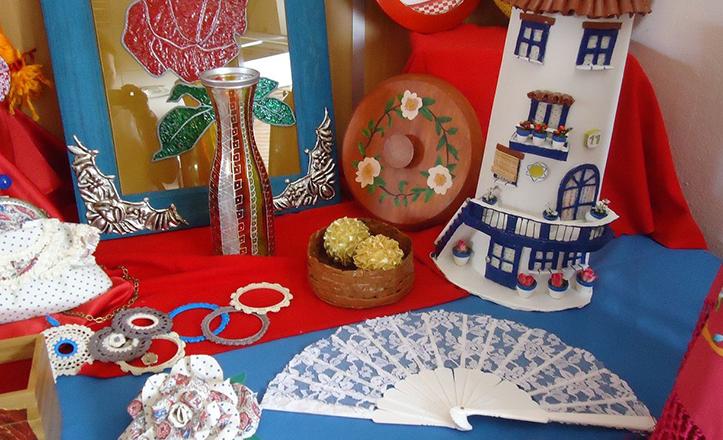 Ejemplo de artesanías realizadas en los talleres del Distrito Macarena