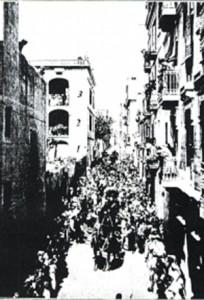 Entierro en Barcelona de Amalia Domingo Soler