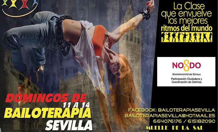 Cartel de «Los domingos de bailoterapia», que tendrán lugar en el Paseo Marqués de Contadero