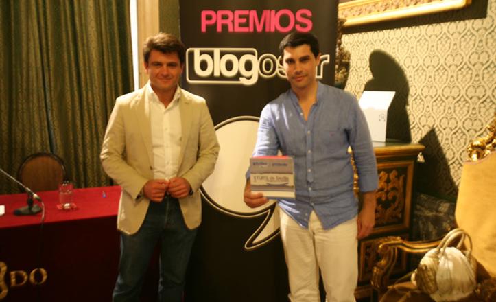 El delegado de Participación Ciudadana, Beltrán Pérez, junto a José Antonio Rodríguez, de la organización de Blogosur