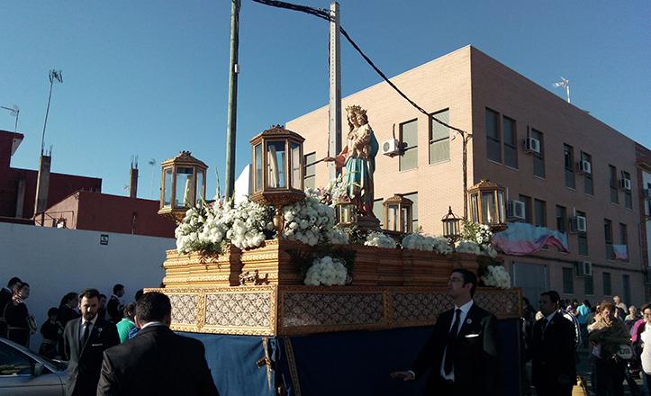 Procesión de María Auxiliadora de la Casa Sor Eusebia (Mornese)