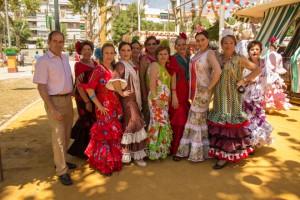 Miembros del taller de Castañuelas del distrito San Pablo-Santa Justa