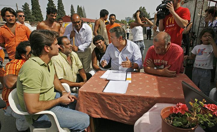 Zoido se reune con el patriarca de El Vacie, Ángel Montoya