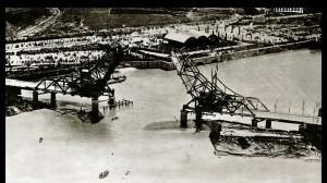 Proceso de obras del Puente de Alfonso XIII en 1920