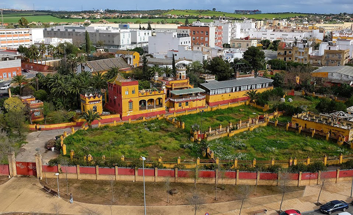Vista aérea de la Real Venta Antequera, en una fotografía reciente