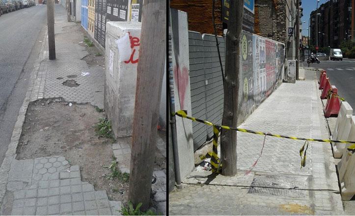 Arreglo del acerado en la calle Arroyo