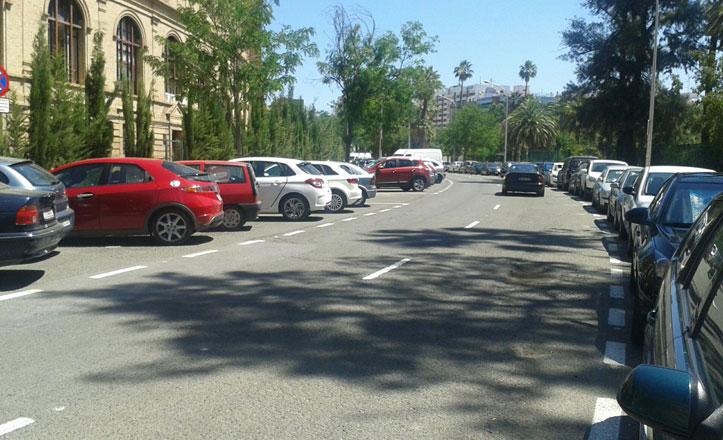 Reordenación de aparcamientos en el entorno del Parque de María Luisa