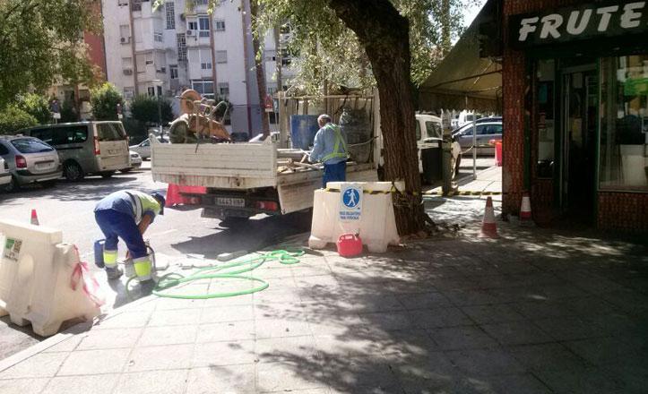 Reparado el acerado en la calle Romero