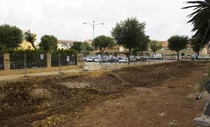 Zona aledaña al colegio Lope de Rueda