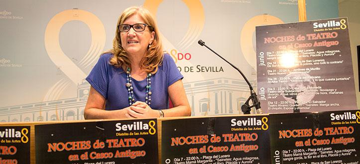 Amidea Navarro en la presentación
