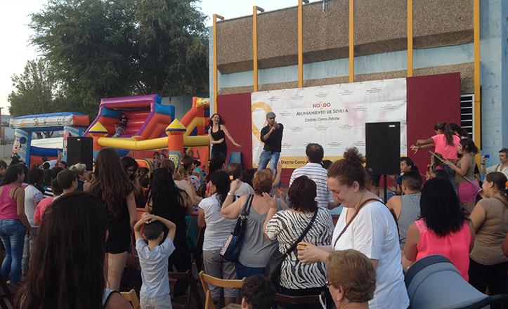 Instantánea de la Fiesta de Fin de Curso del CEIP Adriano del Valle, que contó con actuaciones musicales