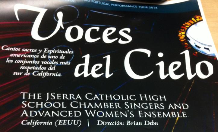 Fragmento del cartel del concierto «Voces del cielo»