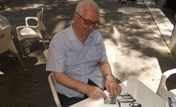 Eduardo Tain a sus 81 años