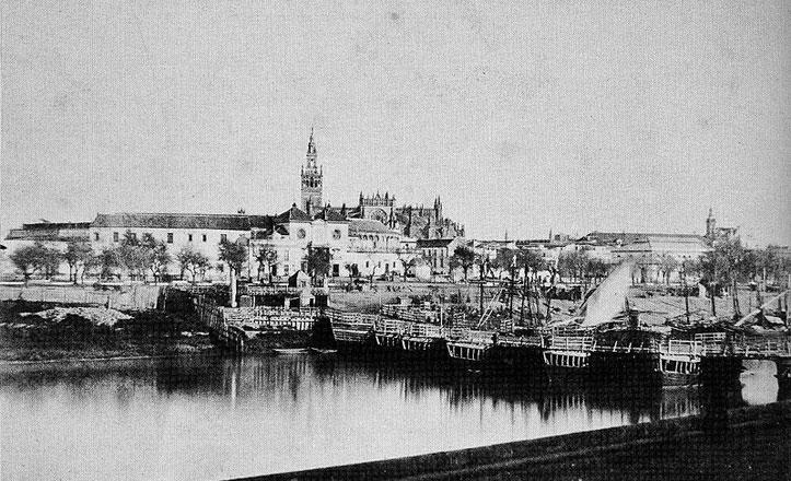 De la Sevilla sin puentes al primer puente que tuvo Sevilla