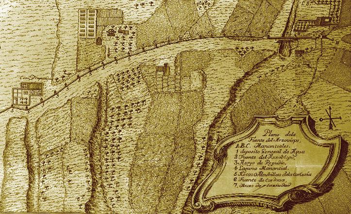 Plano de la Fuente del Arzobispo / Antonio PAlau (Universidad de Sevilla)