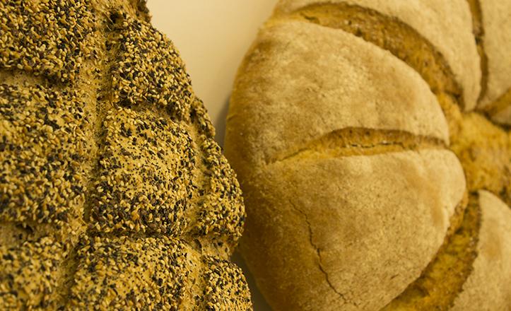 Piezas de pan ecológico