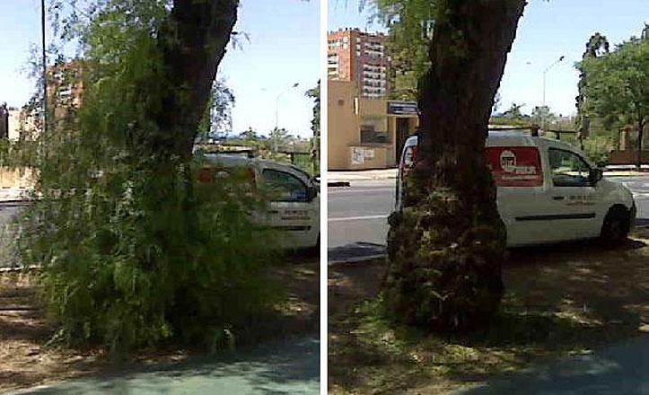REUR 072 retira varetas de la Avenida Eduardo Dato