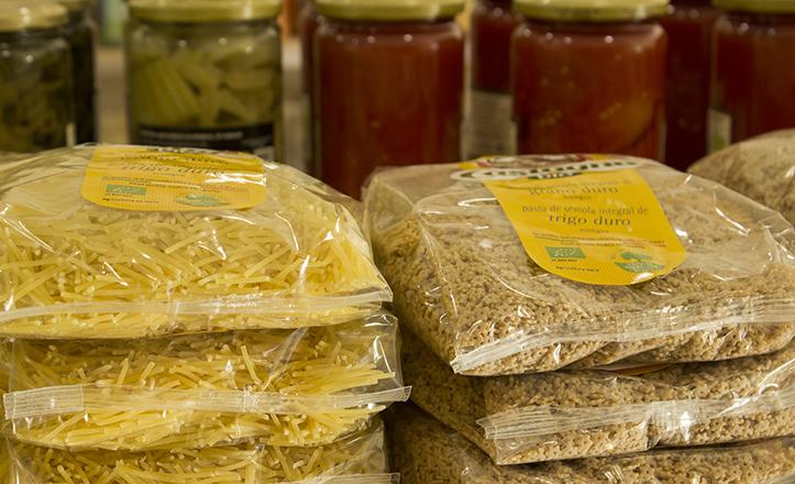 Las pastas y los cereales son otros productos ecológicos