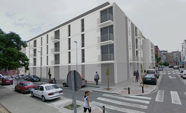 Prototipo de los nuevos bloques de viviendas de los Pajaritos