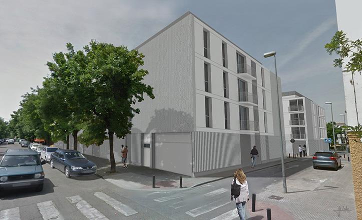 Prototipo de nuevo bloque de viviendas para el Barrio de Los Pajaritos