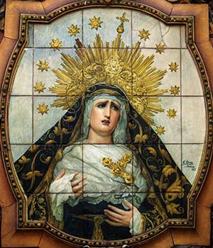 El retablo de San Buenaventura destaca por su diseño mixtilíneo