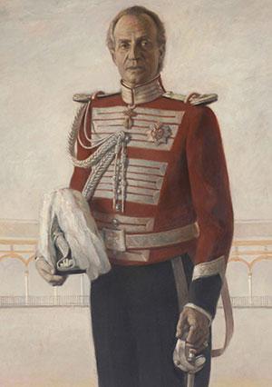 El Rey, vestido con el uniforme de la Maestranza