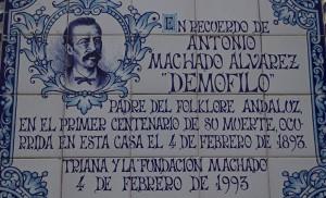 Azulejo conmemorativo de la muerte de «Demófilo»