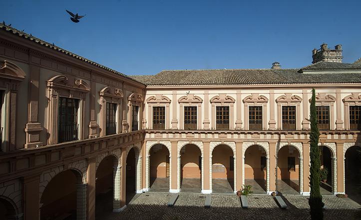 PAtio «de los profesos», hoy perteneciente al Conservatorio Profesional de Música Manuel Castillo