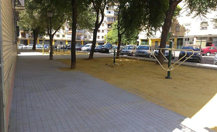 La calle Águila imperial tras los trabajos de mejora